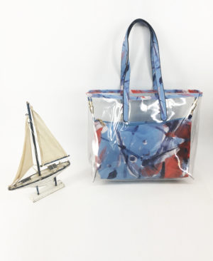 JE artist clear tote bag abstract 3