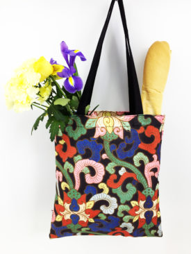 Chinoiserie Colorful Canvas Tote 3