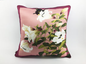 Floral Cushion, Chinoiserie pillow0