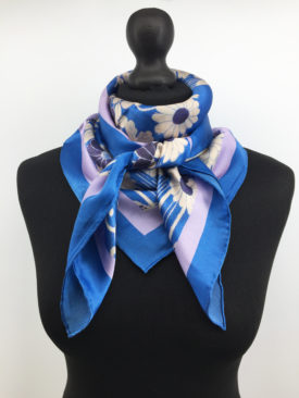 Silk Scarf, Navy blue Silk Scarf