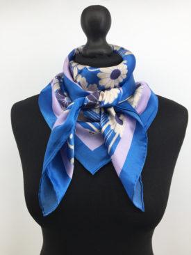 Silk Scarf, Navy blue Silk Scarf