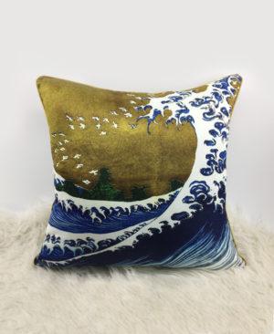 Big Wave Cushion, Gold Cushion2