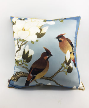 Bird Cushion, Chinoiserie pillow 3